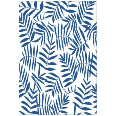 multimats 72 x 36 blue leaf plastic patio rug