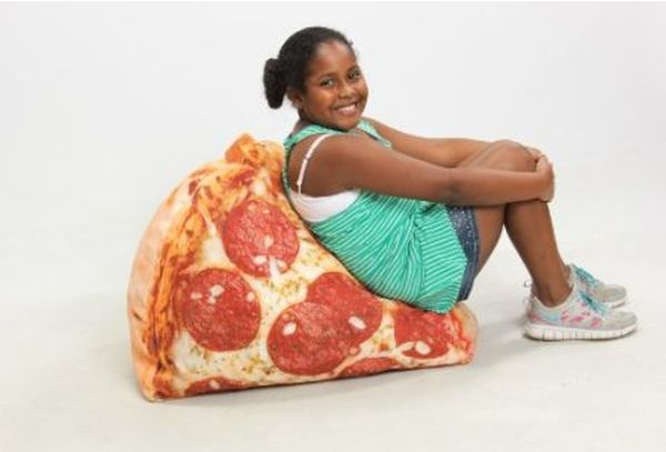 weird shaped chairs foldable floor chair singapore pizza inflatable tempts us with its convincing design