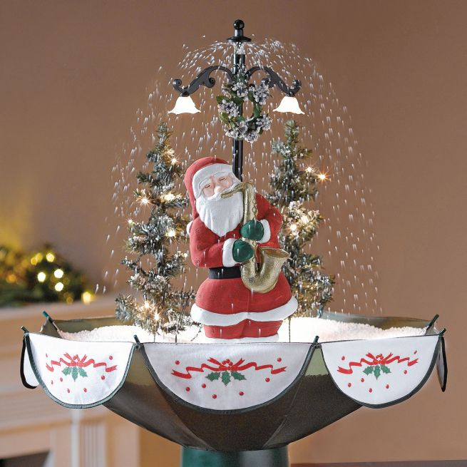 Snowing Christmas Tree Snows Inside Your Living Room