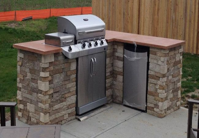 cost of outdoor kitchen mid century table redditor lukeyboy767 builds a low flaunting its diy counter top