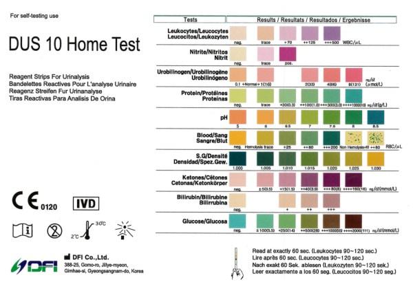 5 x Diabetes Glucose Ketone Urinalysis Home Urine Test
