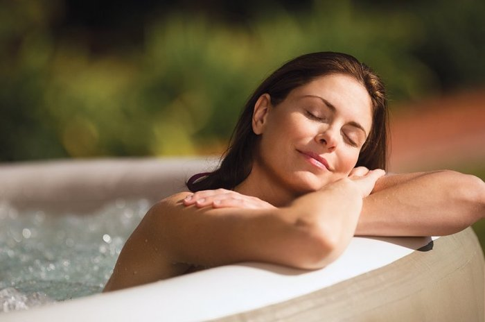 Intex hot tub Massage