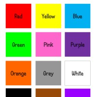 Teaching Thursday: Colours Printable