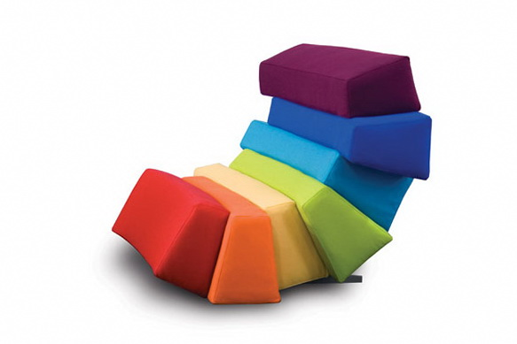 Colorful and Comfortable Furniture Ideas by Rainbows