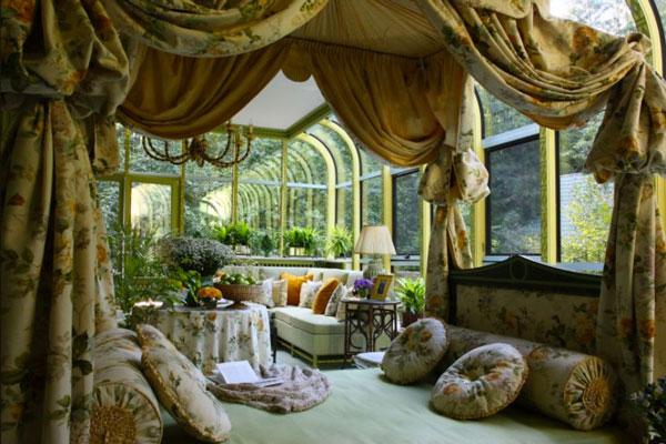 The interior of the winter garden