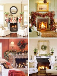 Decorating the fireplace for Christmas | Ideas for Home ...