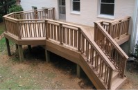 Build Wood Deck Railing Plans DIY modern house plans balsa