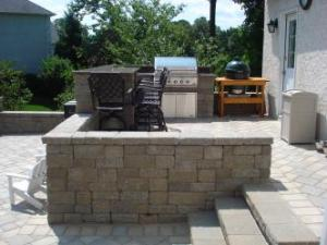 stone patio or deck or both home