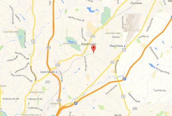 Map Location Of Brookhaven Fields Neighborhood