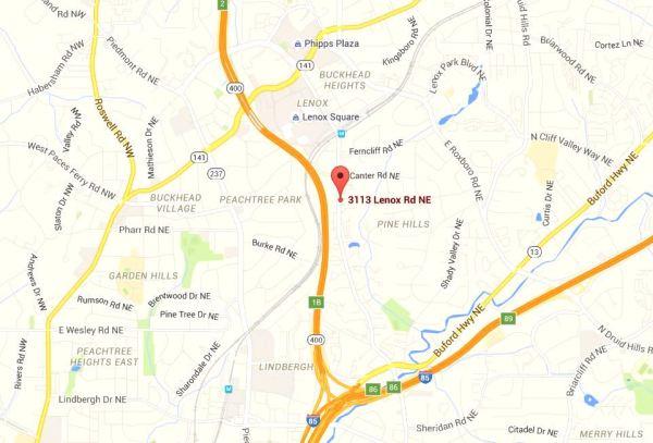 3113 Lenox Buckhead Map Location