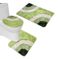 Forest Green Bathroom Rug Set