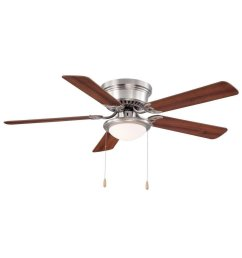 hampton bay hugger 52 in brushed nickel ceiling fan [ 1000 x 1000 Pixel ]