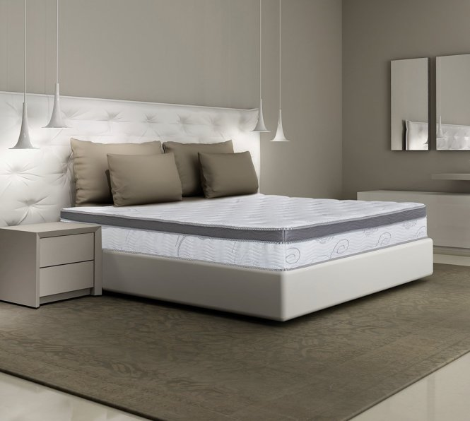 Olee Sleep 13 Inch Box Top Hybrid Gel Infused Memory Foam Innerspring Mattress Queen