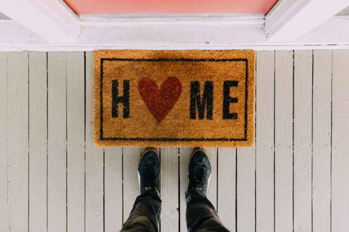 black home area rug