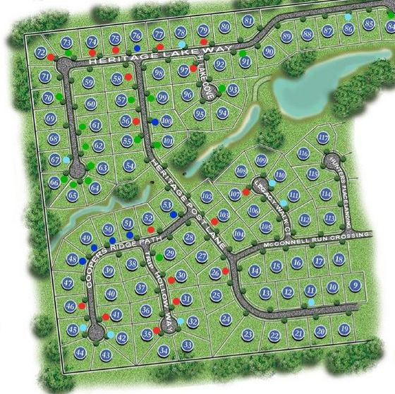 Community Site Plan In Heritage At Grayson