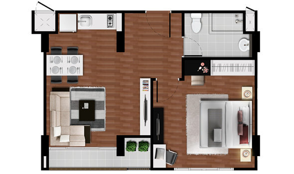 1 Bedroom - Baan Imm Aim