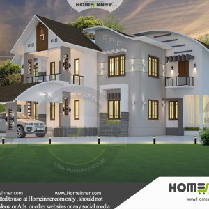 Rohtas 38 Lakh modern double storey house plans