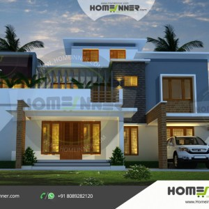 Khowai 26 Lakh small home designs with garage