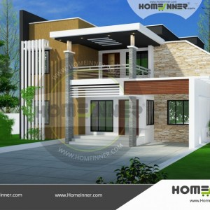 Kannauj 22 Lakh low cost front elevation designs for small houses