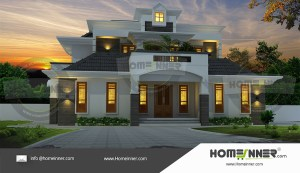 HIND-20902 House plan 3D Elevations