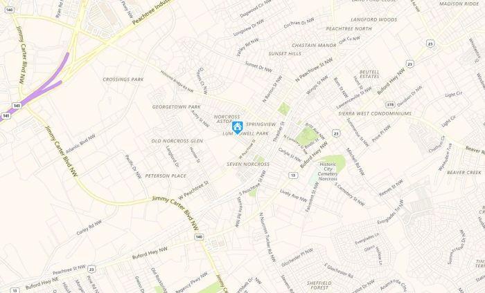 Norcross GA Map Lum Howell Park Neighborhood