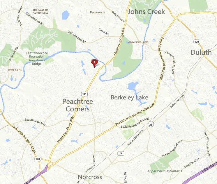 Map Of Peachtree Corners Community Riverview Estates