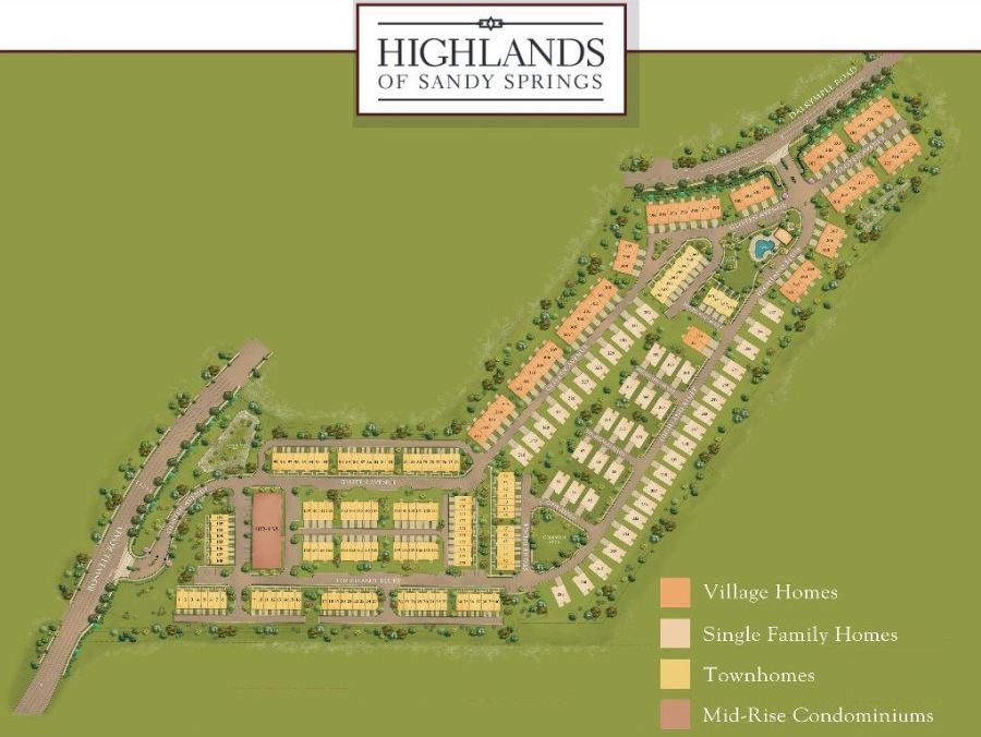 Site Plan Highlands Of Sandy Springs