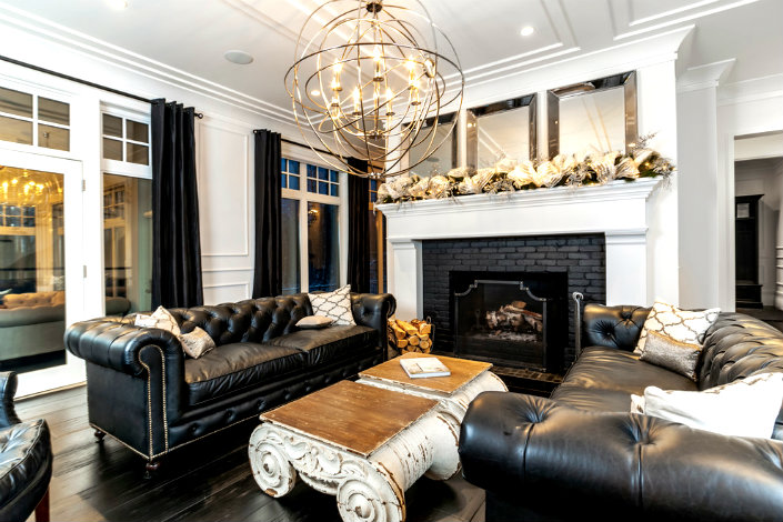 black sofa living room images younger furniture michael apartment contemporary sofas a chesterfield kind of home decor contemporay