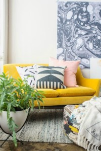 A Twist Of Lemon - Add Some Vibrant Yellow In Your Living Room