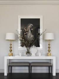 Living room decorating ideas: modern console tables to