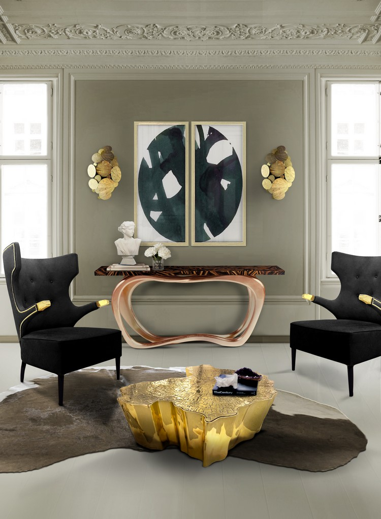Living room decorating ideas modern console tables to