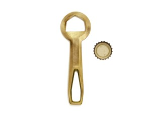 Fort Standard Solid Brass Bottle Opener: Crown 1