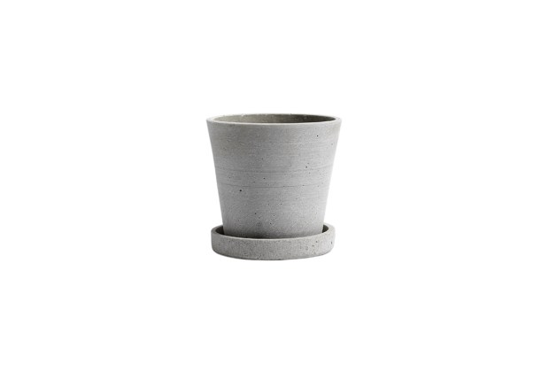 Hay Polystone Flower Pot Grey Small