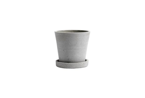 Hay Polystone Flower Pot Grey Small