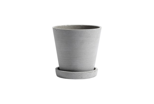 Hay Polystone Flowerpot Grey Medium