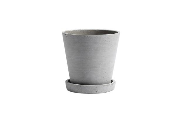 Hay Polystone Flowerpot Grey Medium