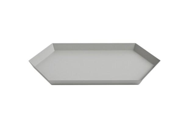 Hay Kaleido Metal Tray Medium Grey