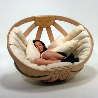 Round Rocking Cradle Chair for Ultimate Relaxation  Home