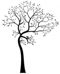 Large Tree Silhouette Wall Decal Brings the Beauty of ...