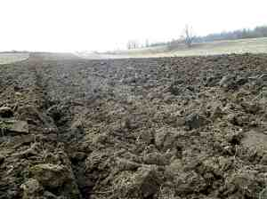 First plowed field of spring upstate New York