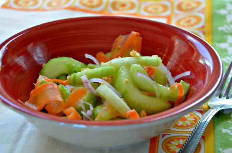 Thai Cucumber salad- Home in the Finger Lakes