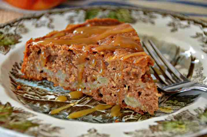 Chunky Apple Spice Cake with Vanilla Butter Sauce