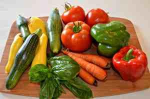 Fresh garden veggies from summer of 2013