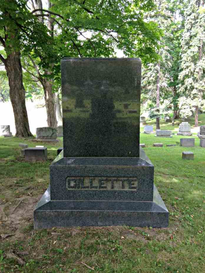Local legends surrounding the mysterious face of a woman showing in a white marking on a granite gravestone in Penn Yan