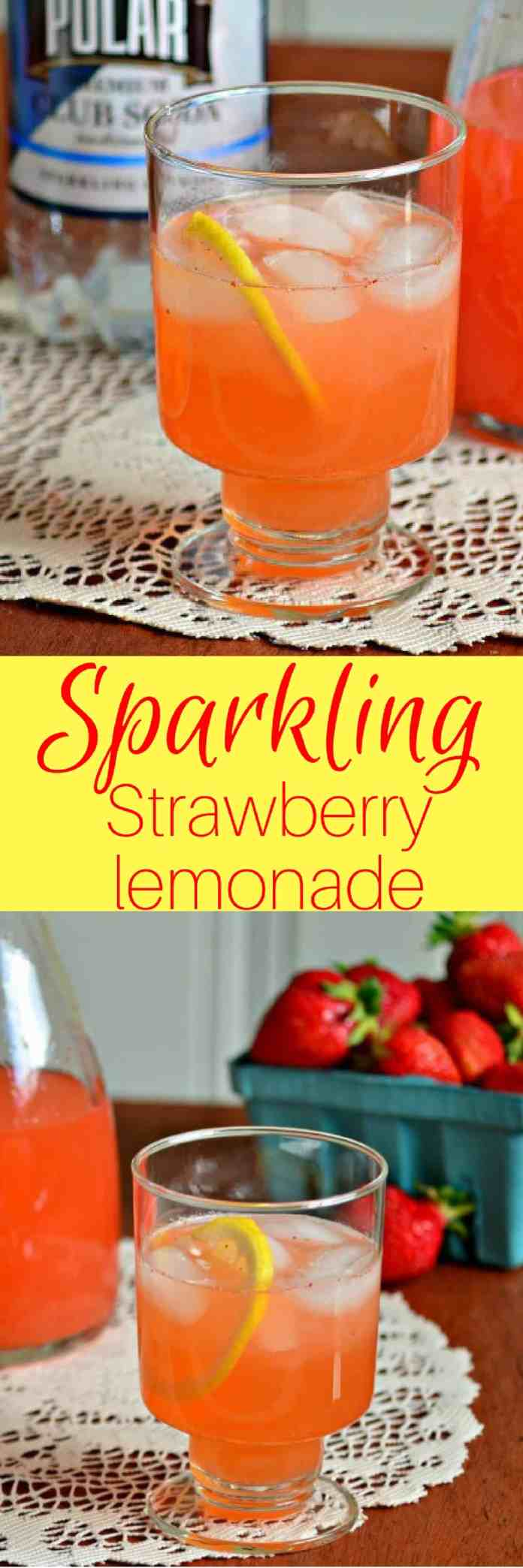 Sweet, tangy and sparkling, Strawberry Lemonade is the perfect drink to help you ease into summer.