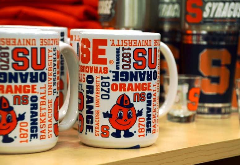 SU Orange Mugs at Herb Philipson's