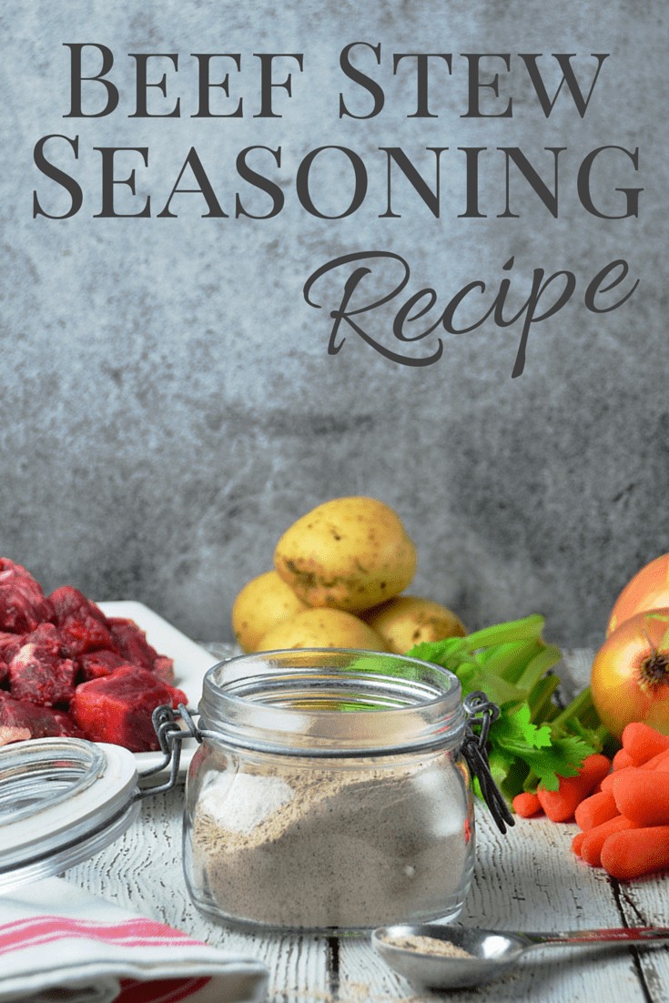 Season your stew meat with Beef Stew Seasoning Mix before you brown it. The blend of herbs and spices adds flavor and the flour will thicken your favorite beef stew recipe.