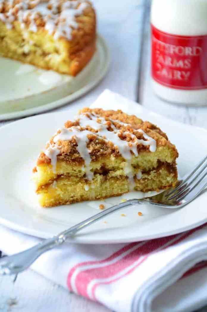 This Double-Streusel Coffee Cake made with a homemade baking mix is a quick and easy  cake you can make anytime.