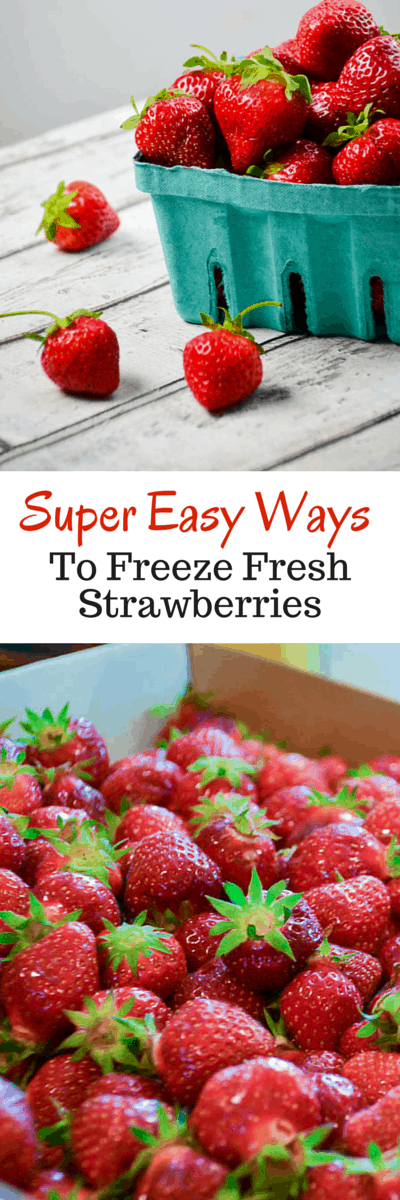 3 Easy Methods of Freezing Fresh Strawberries