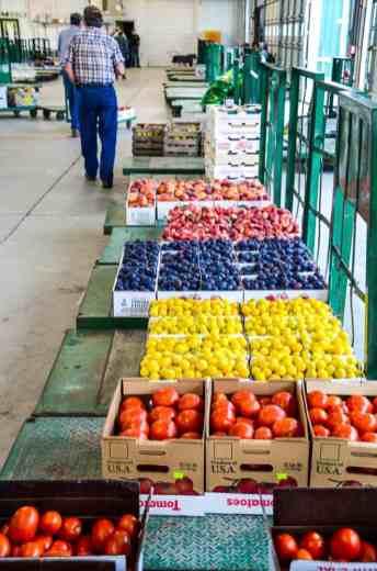 Produce Auction-Peaches plums